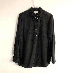 Lou & Grey LOFT washed black shirt XS